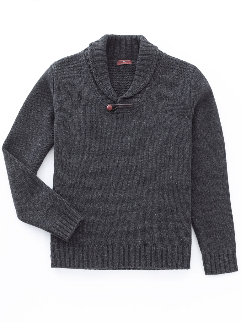 Shawl Collar Sweater by James Tattersall