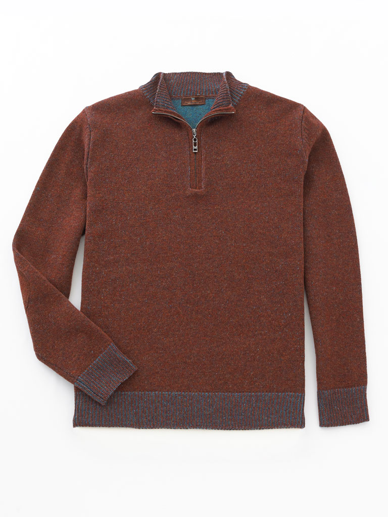 1/4 Zip Mock Sweater  by James Tattersall