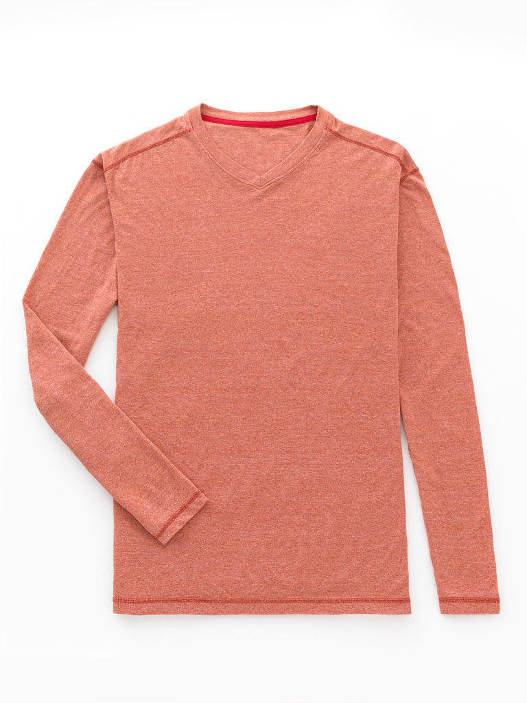 Long Sleeve V-Neck Knit by Tom James