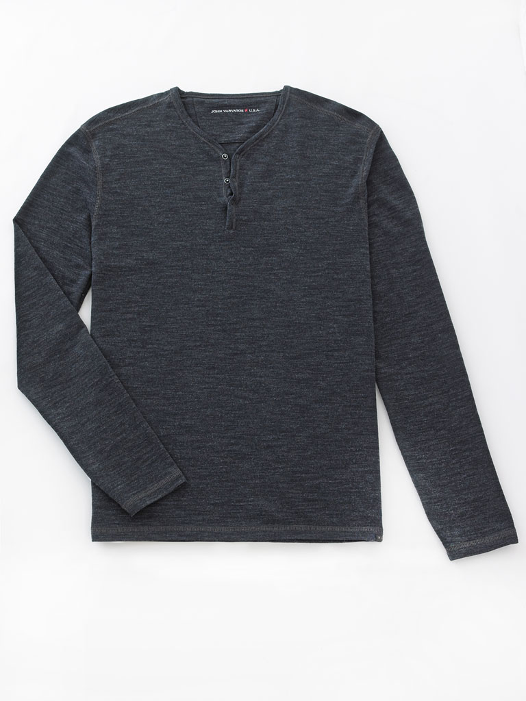 Long Sleeve Henley by John Varvatos