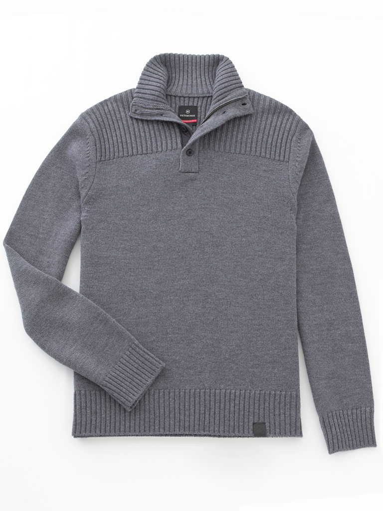 1/4 Zip Mock Sweater  by Victorinox