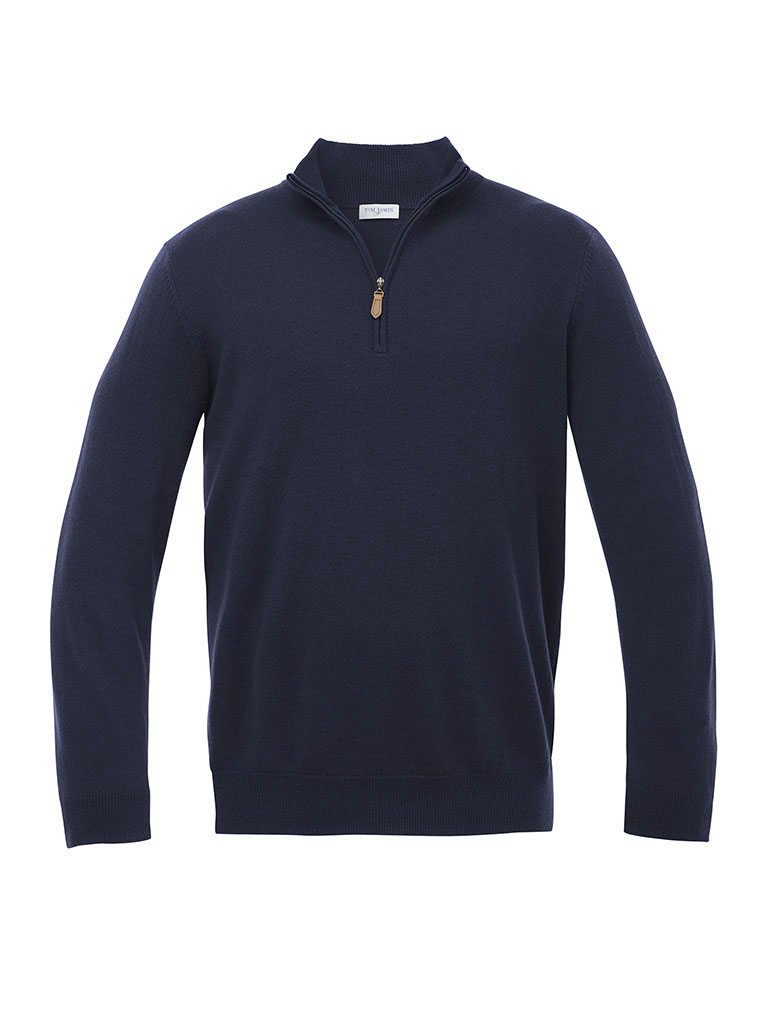 Cashmere 1/4 Zip Mock Sweater  by Tom James
