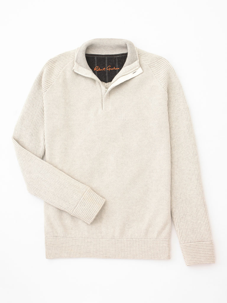 1/4 Zip Sweater by Robert Graham