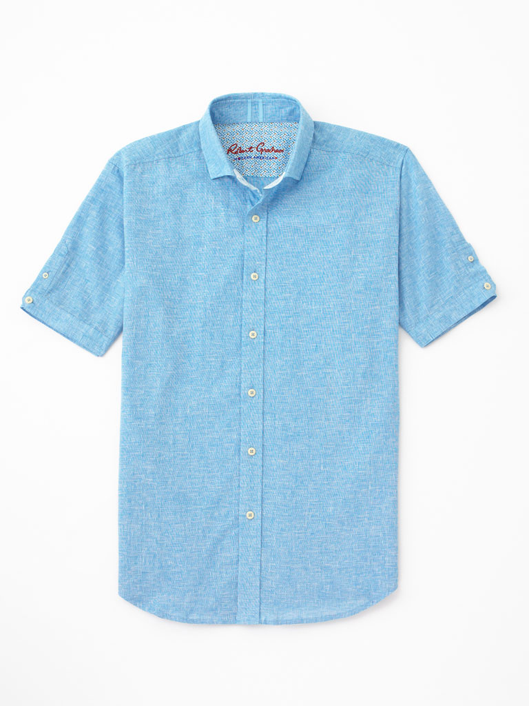 Short Sleeve Parquet Sport Shirt by Robert Graham