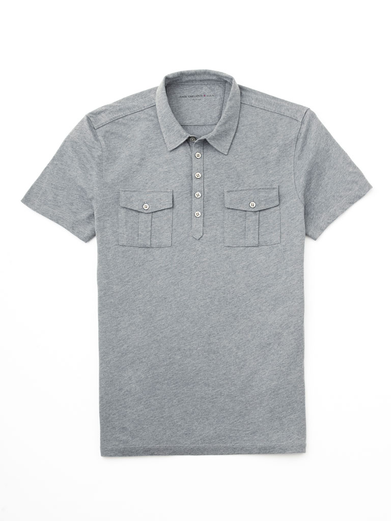Five Button Polo by John Varvatos