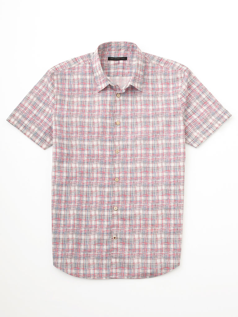Free Form Plaid Sport Shirt by John Varvatos