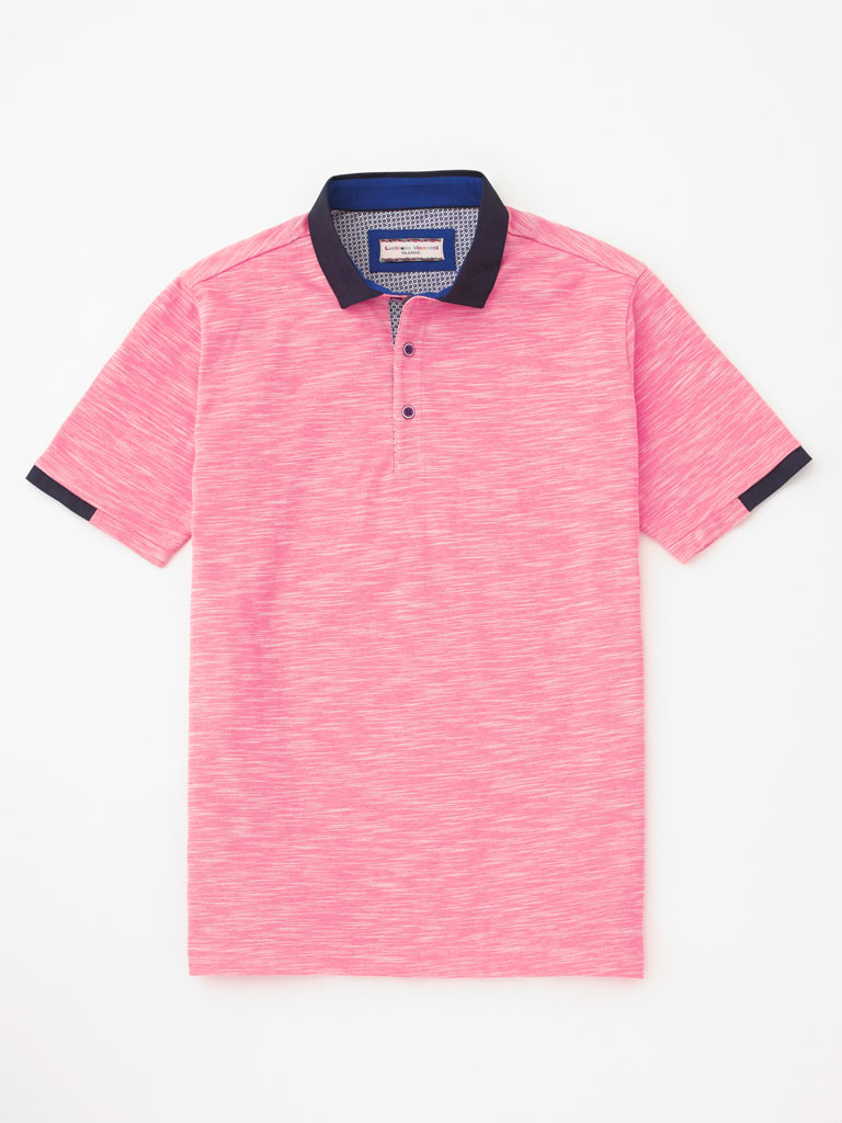 Marbled Picque Polo by Tom James