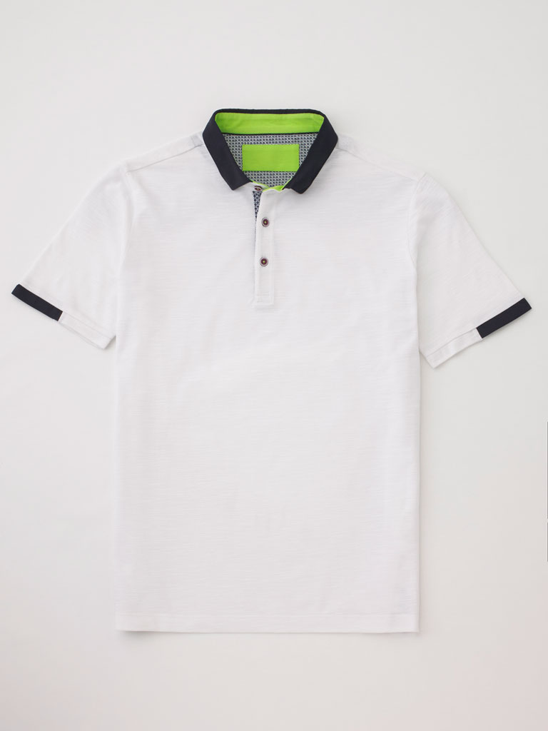 Classic Polo with Contrasting Collars by Tom James