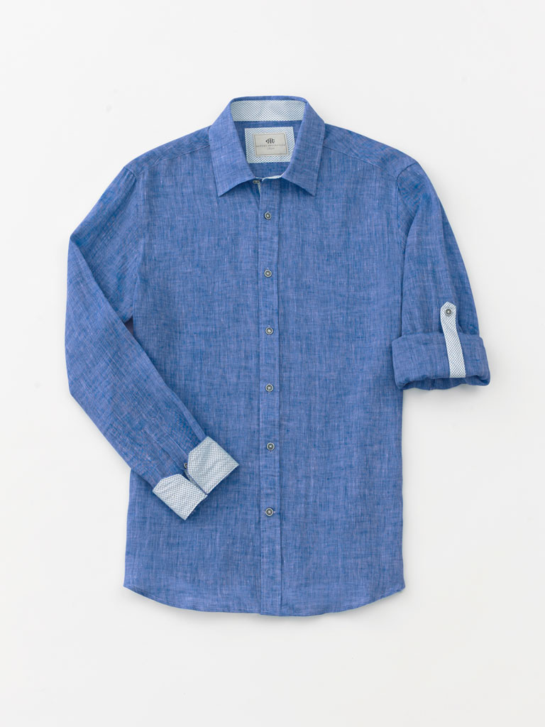 Long Sleeve Linen Sport Shirt by Report