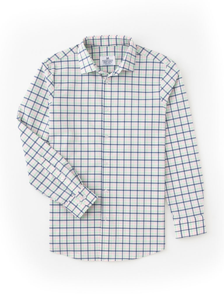 Multi-Plaid Sport Shirt by Mizzen and Main