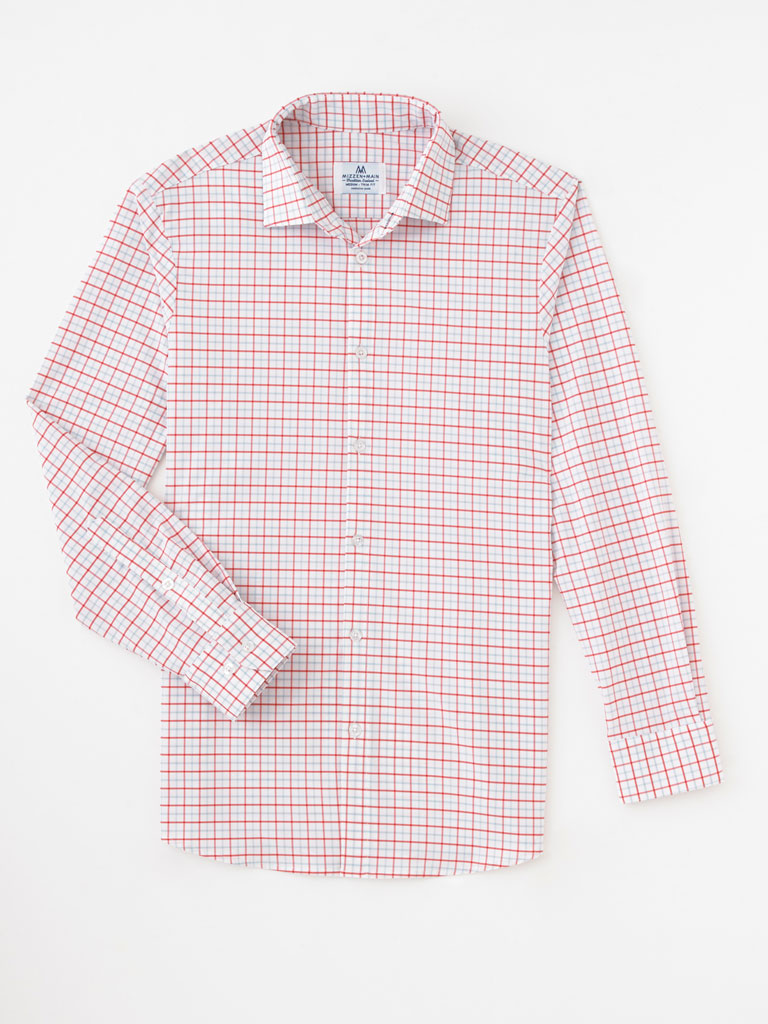 Box Plaid Sport Shirt by Mizzen and Main