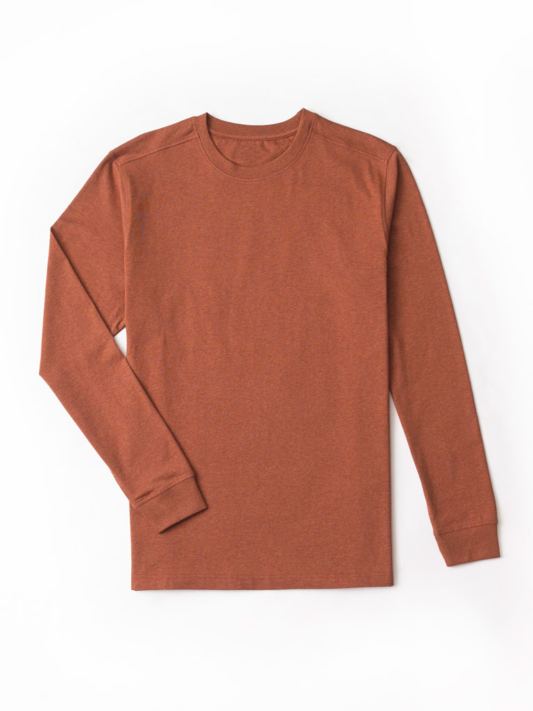 Long Sleeved Crew Neck T-Shirt by Tom James