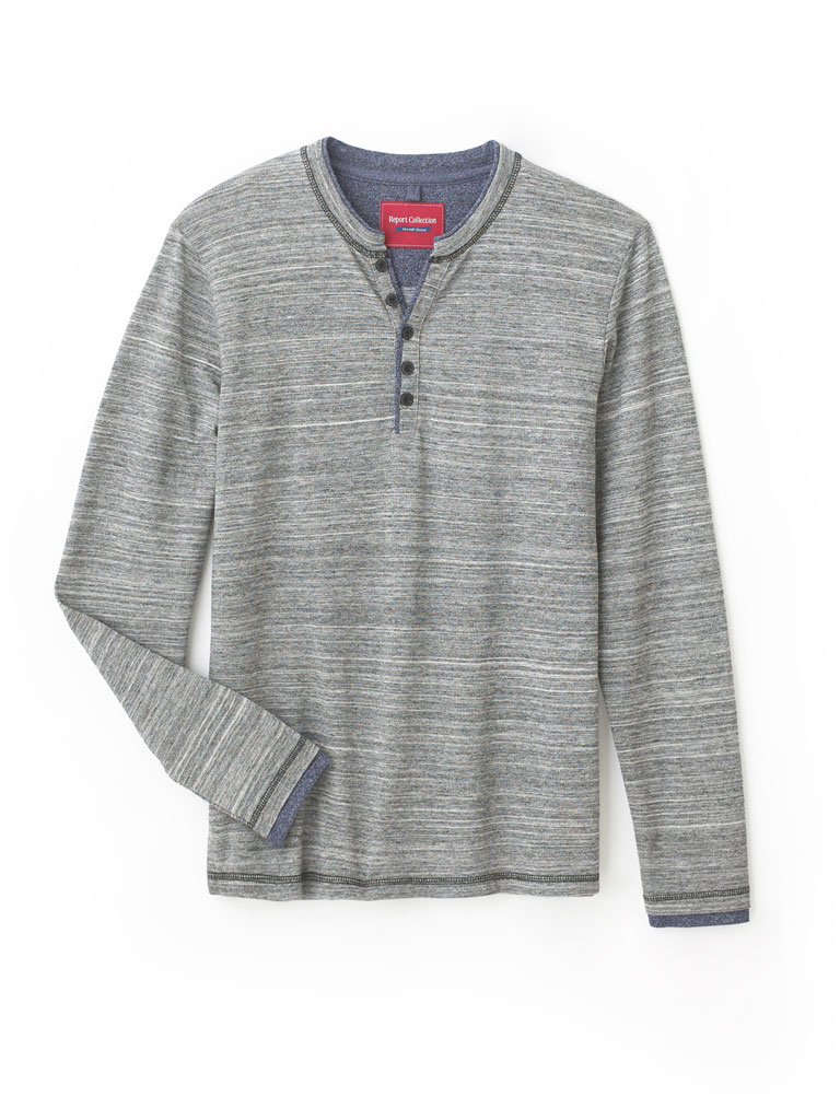 Long Sleeve Henley by Report