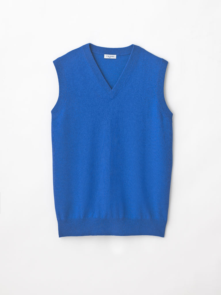 Sleeveless V Neck Cashmere Sweater by Tom James