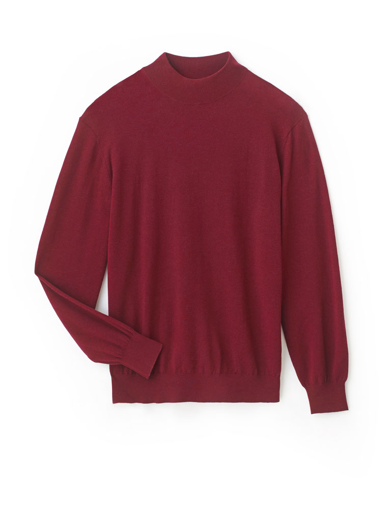 Mock Neck Knit Sweater by Tom James