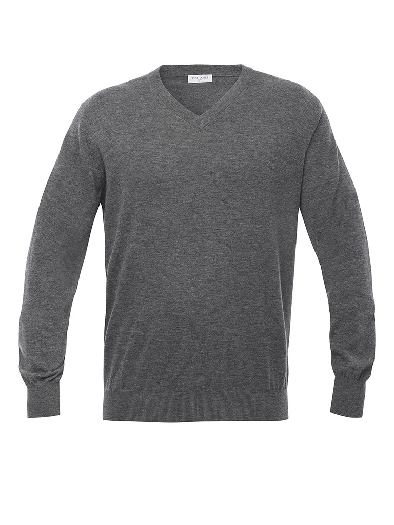 V-Neck Light Weight Merino Wool Sweater