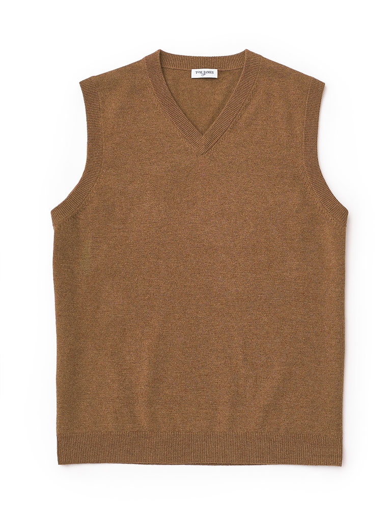 LS Cash Slvls Vest-Coffee