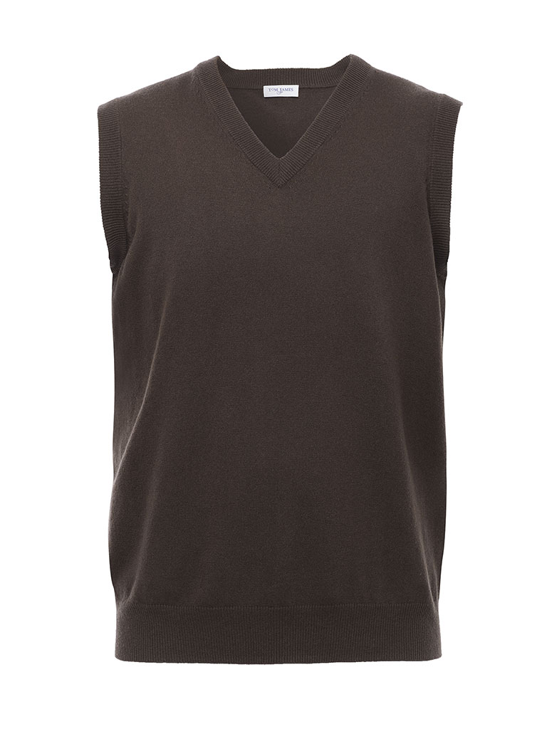 SLEEVELESS VEST-CHOCOLATE