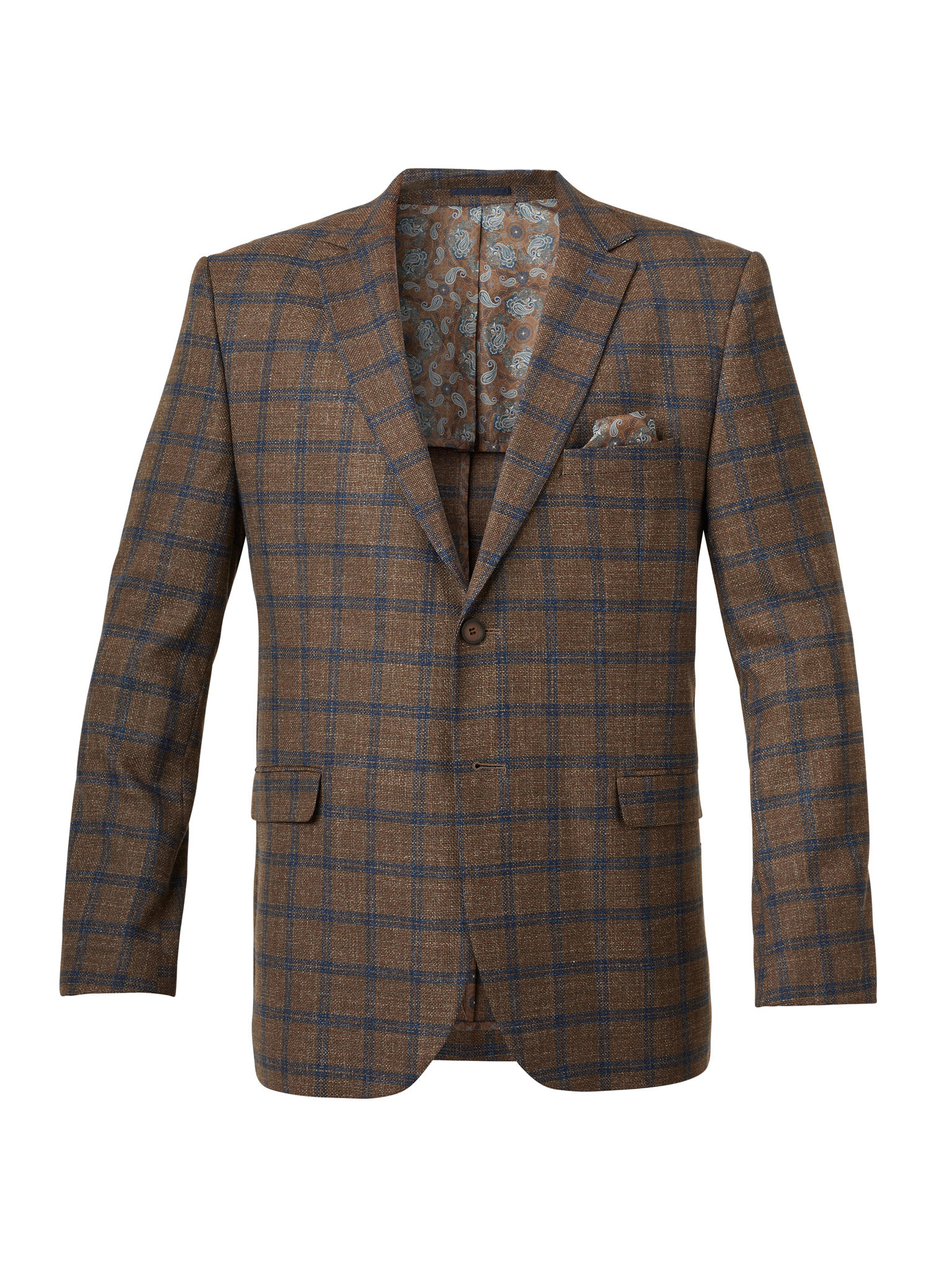SPRTCOAT-BROWN PLAID