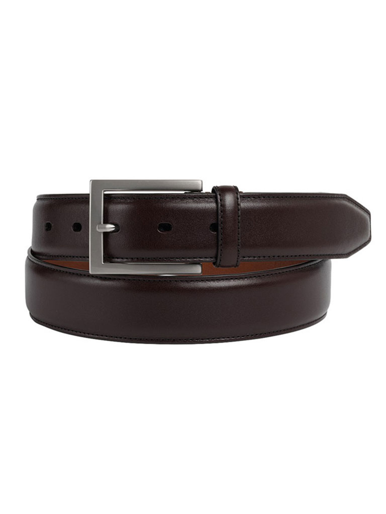 Burgundy Johnston & Murphy Dress Belt
