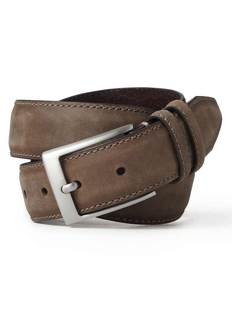 Brown Distressed Casual Belt by Johnston & Murphy