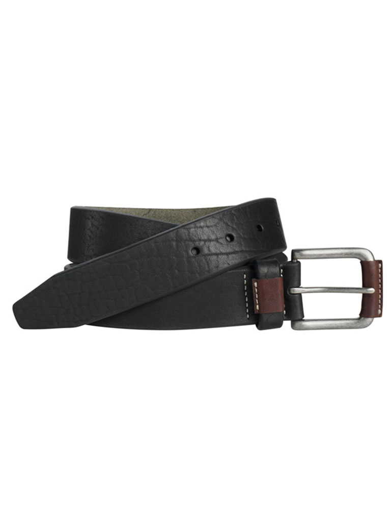 Black Wrapped Buckle Belt by Johnston & Murphy