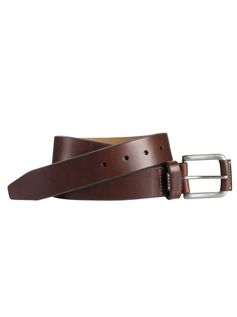 Brown Wrapped Buckle Belt by Johnston & Murphy