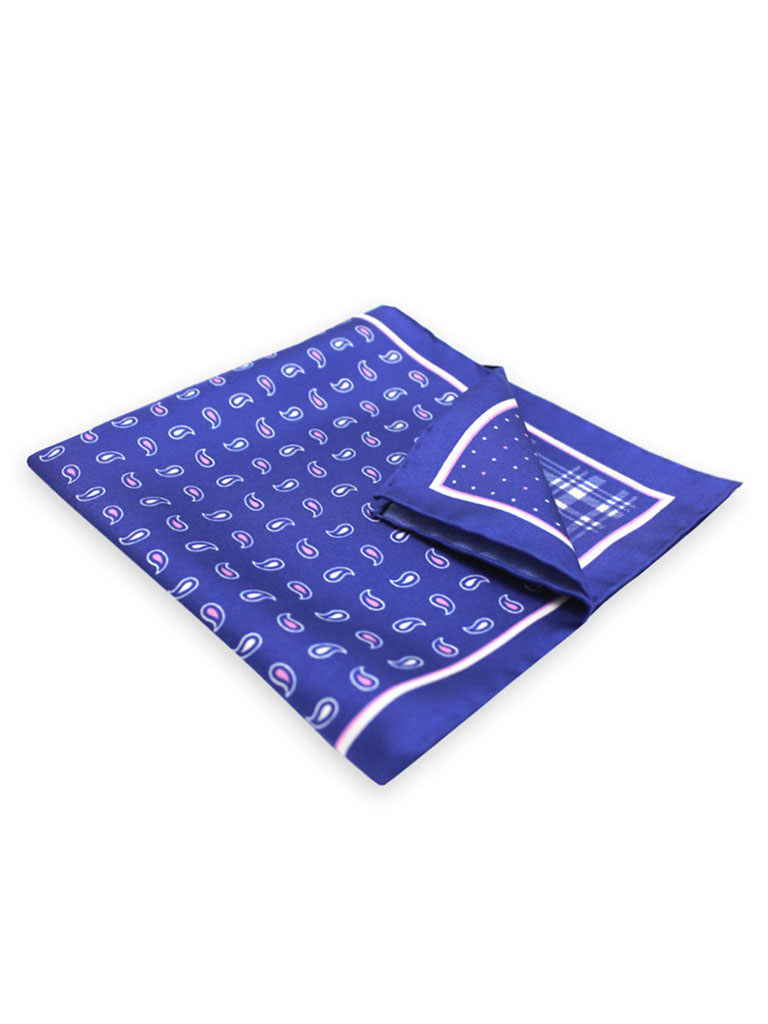 100% Silk 4-Way Reversable Pocket Square