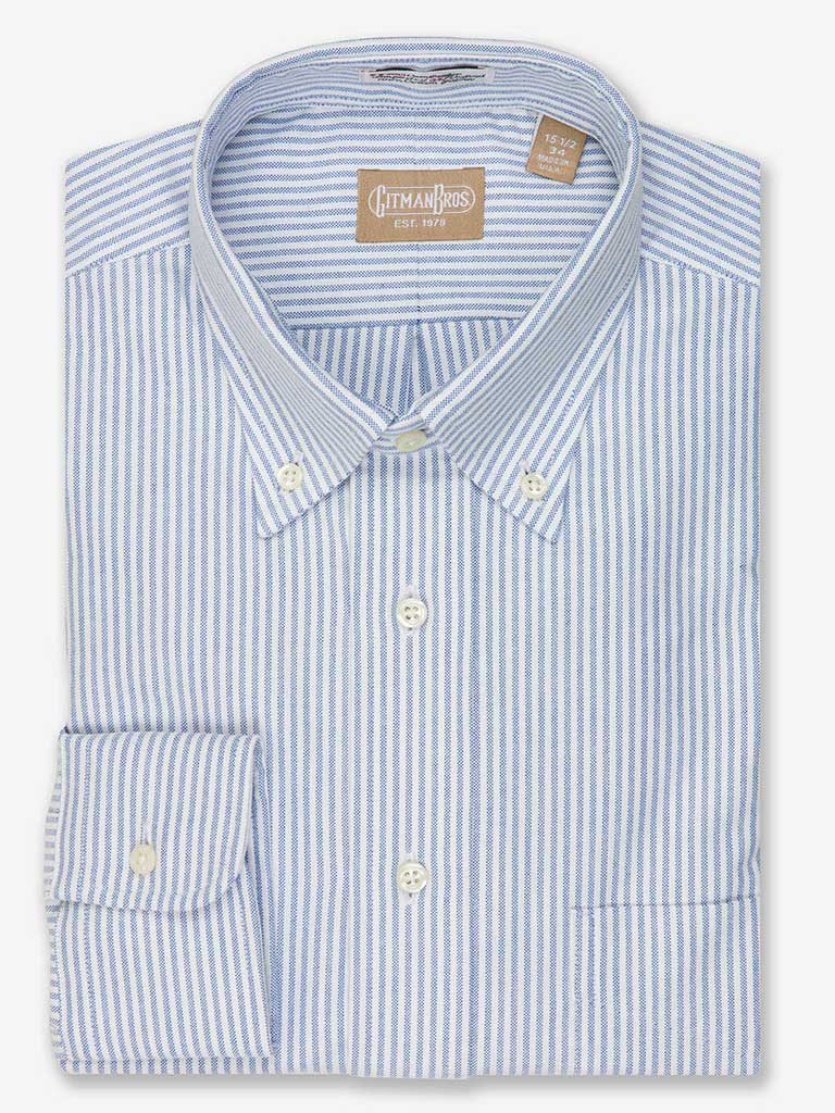 Stripe Cambridge Oxford Dress Shirt