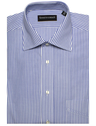 Bengal Stripe Spread Collar Dress Shirt