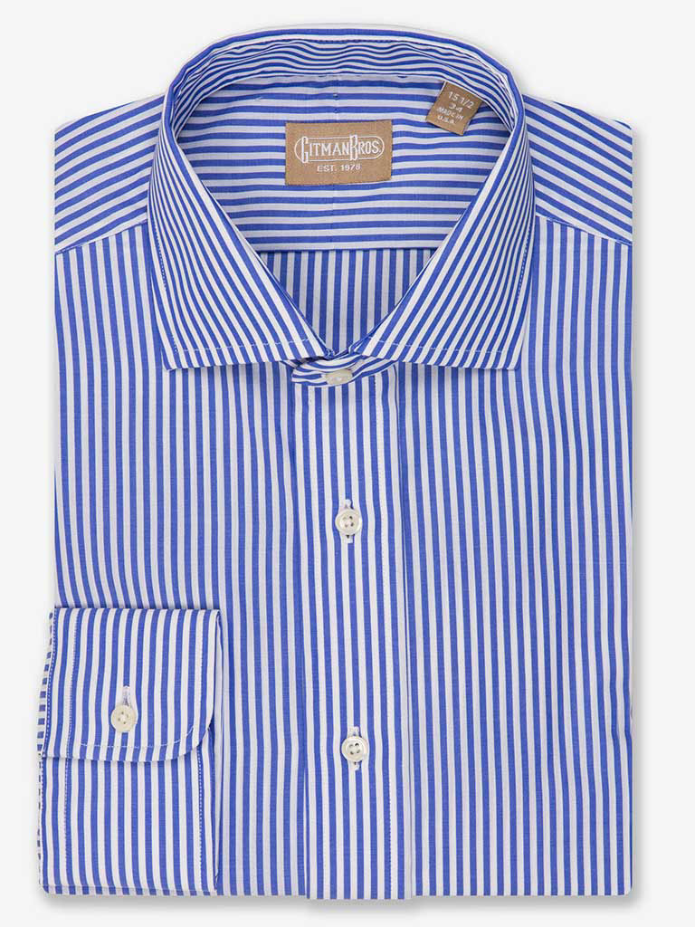 Bengal Stripe Dress Shirt with Wide Spread Collar
