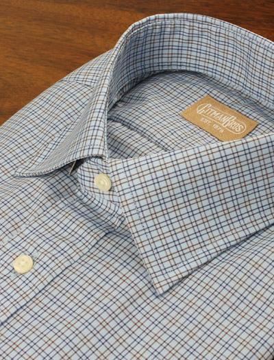 Compact Check Dress Shirt by Tom  James