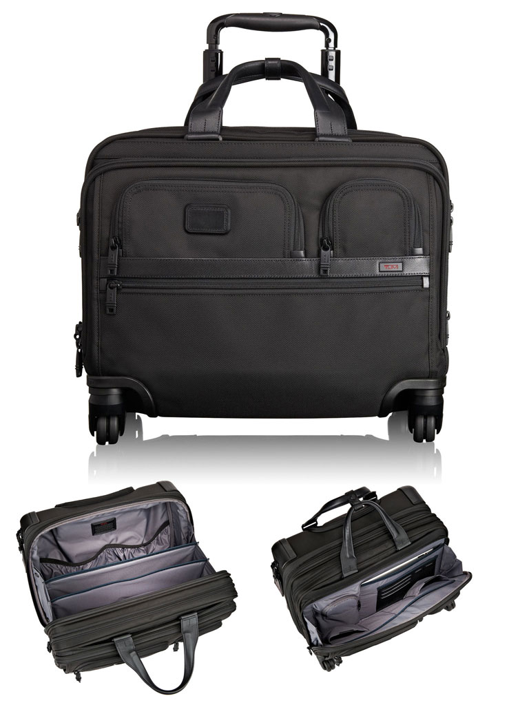 TUMI 4 Wheel Deluxe Laptop Brief