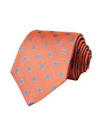 Tie-Coral Spaced Neat