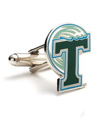NCAA Tulane Green Wave Cufflinks