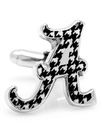 NCAA University of Alabama Houndstooth Cufflinks