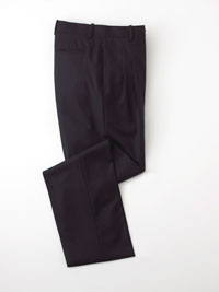 Pant-Navy Solid Plt
