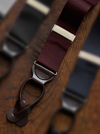 BURGUNDY                       Solid Colored Braces