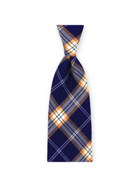 Tie-Navy Summer Plaid