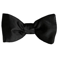Satin To-Be-Tied Bow - Bl