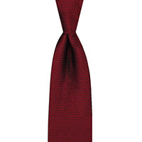 Tie-Red Woven Solid