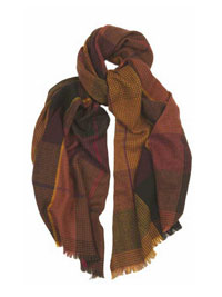 BROWN Glen Tweed Scarf by Hogarth