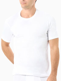 WHITE Naked Signature Crew Under Shirt
