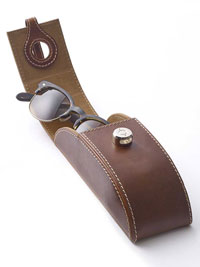 BROWN Leather Eyeglass Case