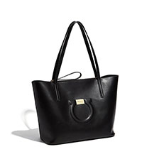 "BLACK Ferragamo ""City"" Tote"