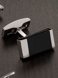Black Onyx Insert Cufflinks