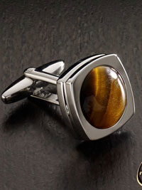 BROWN Tiger Eye Cufflinks