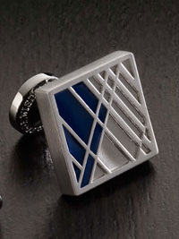 BLUE Robert Graham Geometric Cufflinks