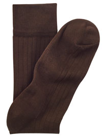 BROWN Cotton/Nylon Blend Solid Socks