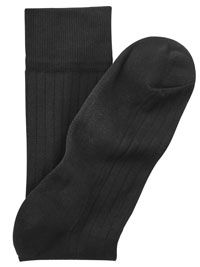 BLACK Cotton/Nylon Blend Solid Socks
